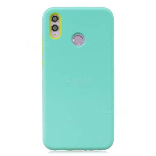 Matte PC + Silicone Shockproof Phone Back Cover Case for Huawei Honor 8X -  Baby Blue