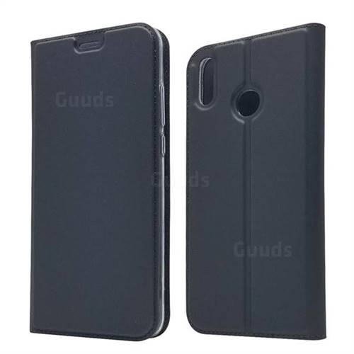 Ultra Slim Card Magnetic Automatic Suction Leather Wallet Case for Huawei Honor 8X - Star Grey
