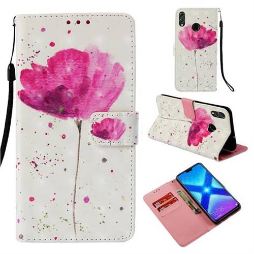 Watercolor 3D Painted Leather Wallet Case for Huawei Honor 8X