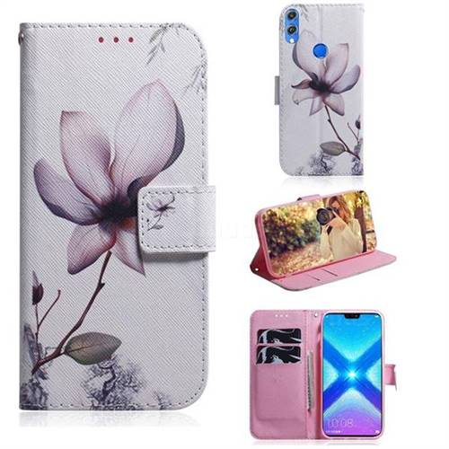Magnolia Flower PU Leather Wallet Case for Huawei Honor 8X