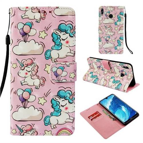 Angel Pony 3D Painted Leather Wallet Case for Huawei Honor 8X Max(Enjoy Max)