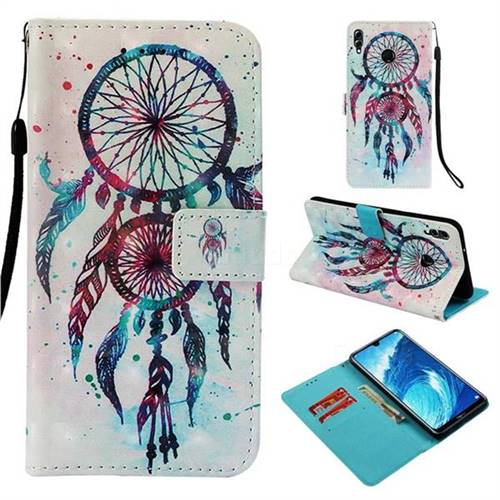 ColorDrops Wind Chimes 3D Painted Leather Wallet Case for Huawei Honor 8X Max(Enjoy Max)