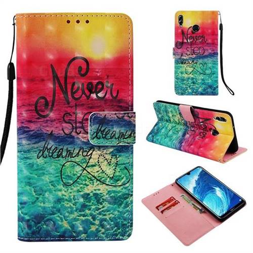 Colorful Dream Catcher 3D Painted Leather Wallet Case for Huawei Honor 8X Max(Enjoy Max)