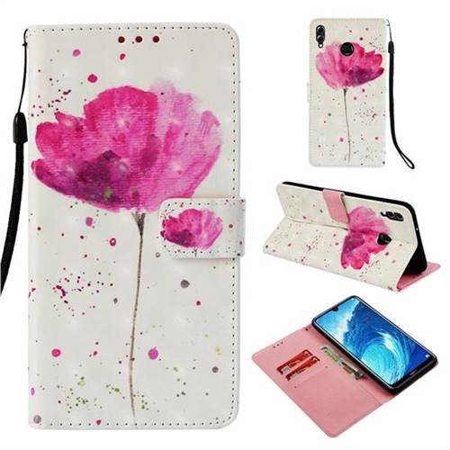 Watercolor 3D Painted Leather Wallet Case for Huawei Honor 8X Max(Enjoy Max)