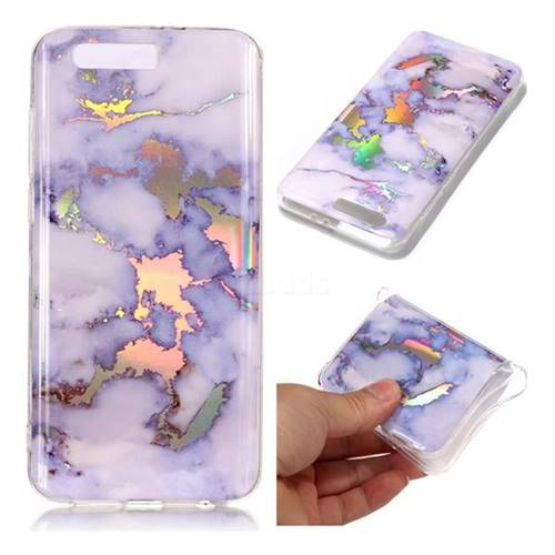 Blue Marble Pattern Bright Color Laser Soft TPU Case for Huawei Honor 9
