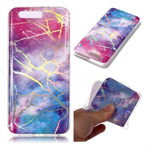Dream Sky Marble Pattern Bright Color Laser Soft TPU Case for Huawei Honor 9