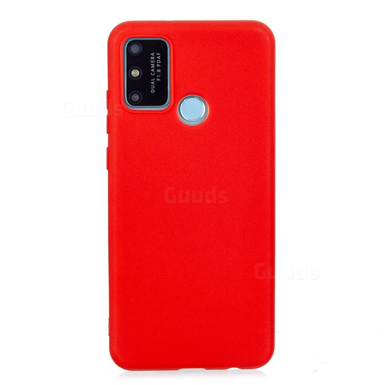 Candy Soft Silicone Protective Phone Case for Huawei Honor 9A - Red
