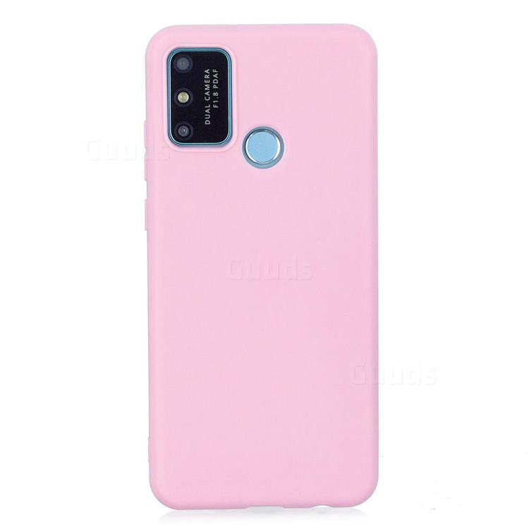 Candy Soft Silicone Protective Phone Case for Huawei Honor 9A - Dark Pink