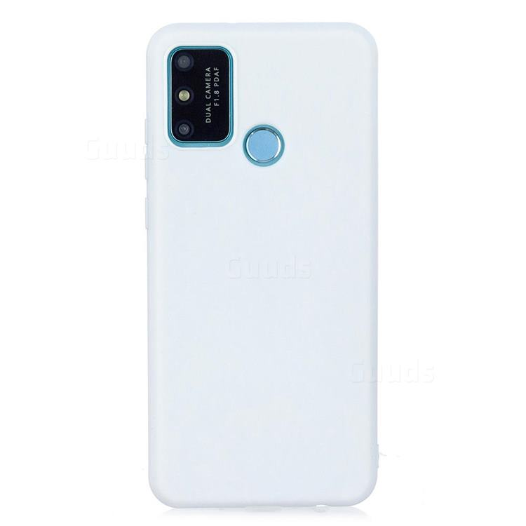 Candy Soft Silicone Protective Phone Case for Huawei Honor 9A - White