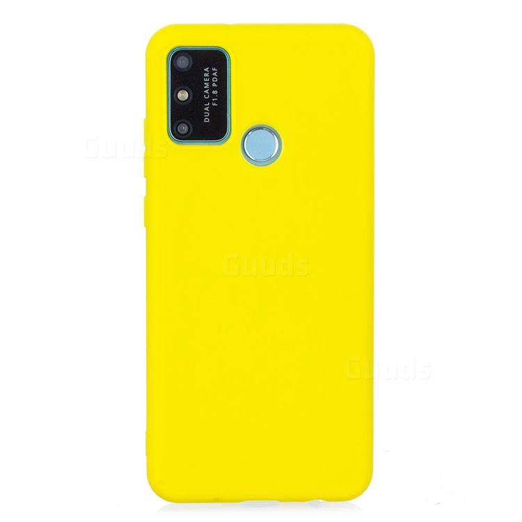 Candy Soft Silicone Protective Phone Case for Huawei Honor 9A - Yellow