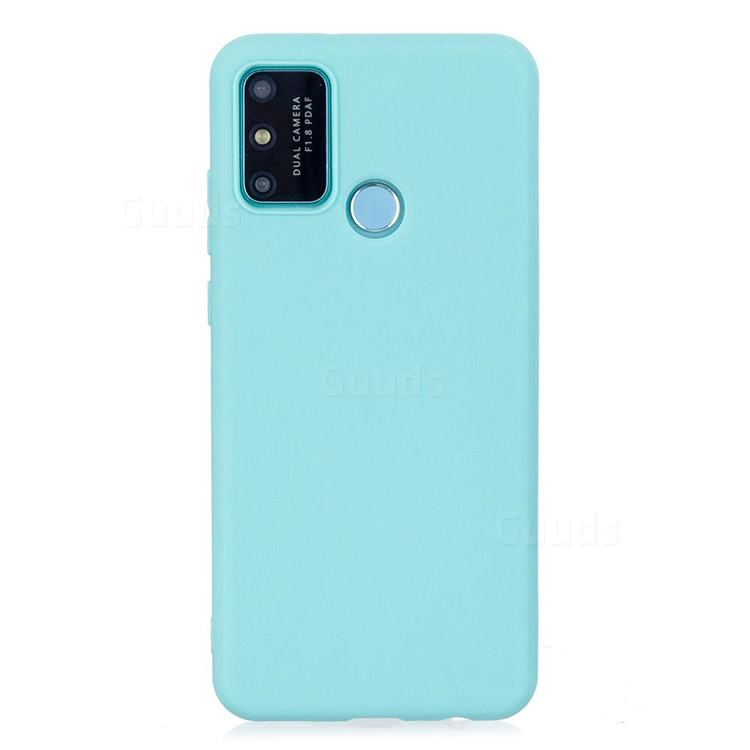 Candy Soft Silicone Protective Phone Case for Huawei Honor 9A - Light Blue