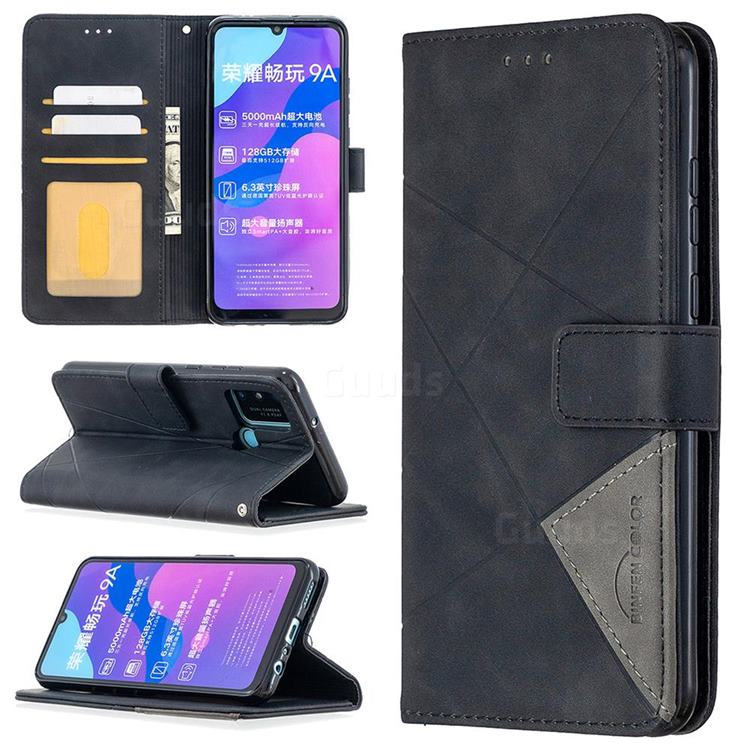 Binfen Color BF05 Prismatic Slim Wallet Flip Cover for Huawei Honor 9A - Black