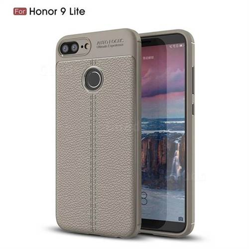 Luxury Auto Focus Litchi Texture Silicone TPU Back Cover for Huawei Honor 9 Lite - Gray