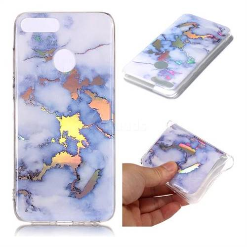 Blue Marble Pattern Bright Color Laser Soft TPU Case for Huawei Honor 9 Lite