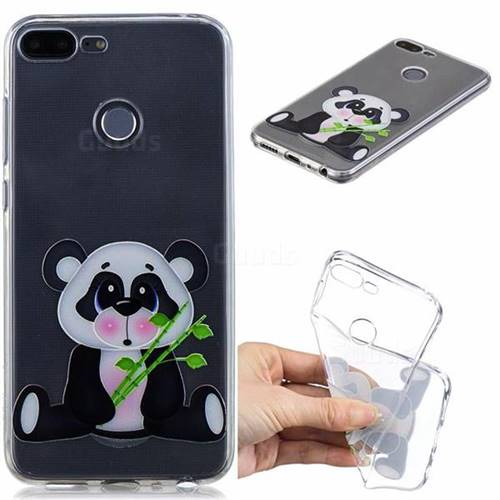 Bamboo Panda Clear Varnish Soft Phone Back Cover for Huawei Honor 9 Lite
