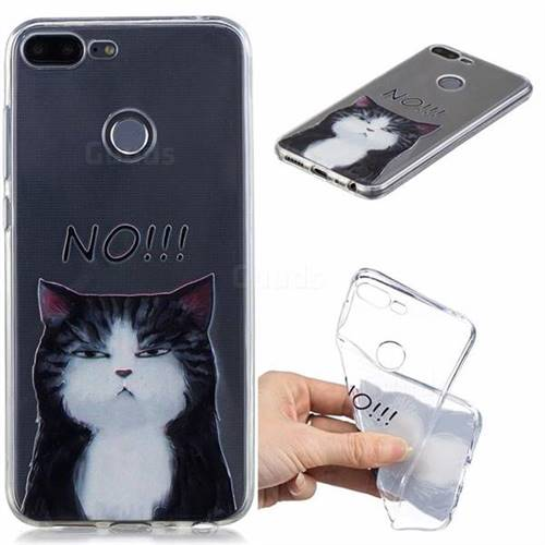 Cat Say No Clear Varnish Soft Phone Back Cover for Huawei Honor 9 Lite