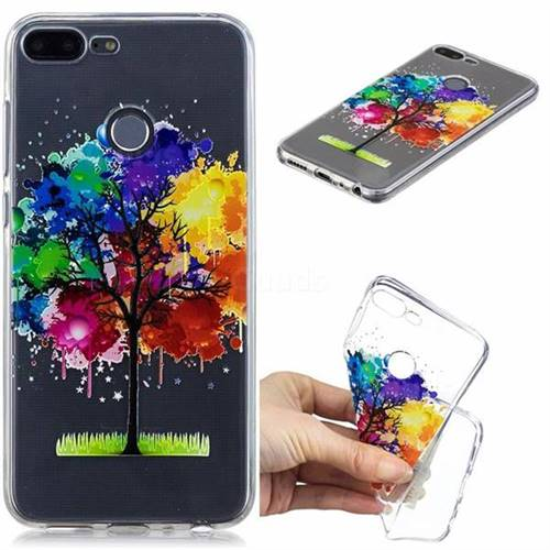 Oil Painting Tree Clear Varnish Soft Phone Back Cover for Huawei Honor 9 Lite