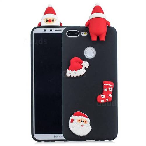 Black Santa Claus Christmas Xmax Soft 3D Silicone Case for Huawei Honor 9 Lite