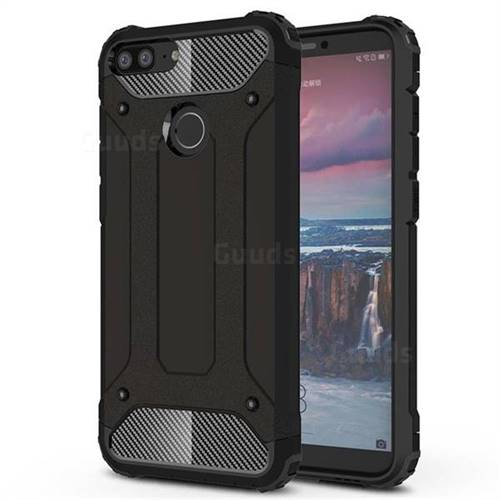 King Kong Armor Premium Shockproof Dual Layer Rugged Hard Cover for Huawei Honor 9 Lite - Black Gold