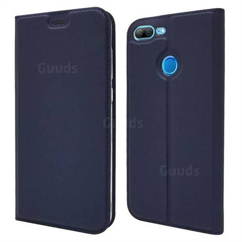 Ultra Slim Card Magnetic Automatic Suction Leather Wallet Case for Huawei Honor 9 Lite - Royal Blue