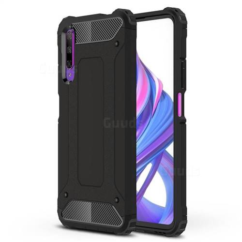 King Kong Armor Premium Shockproof Dual Layer Rugged Hard Cover for Huawei Honor 9X - Black Gold