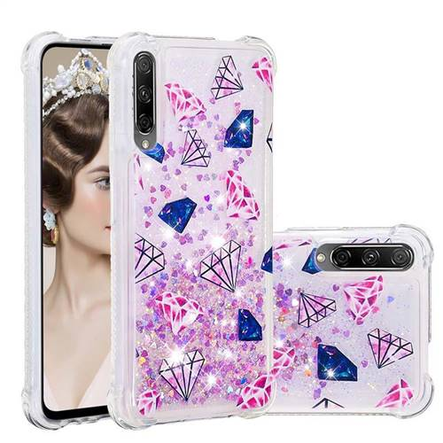 Diamond Dynamic Liquid Glitter Sand Quicksand Star TPU Case for Huawei Honor 9X