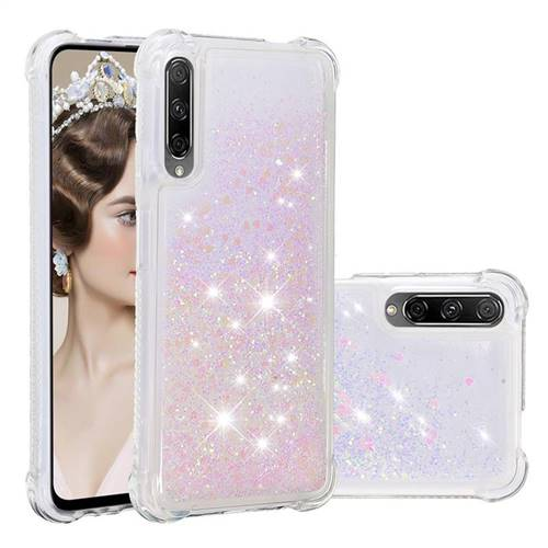 Dynamic Liquid Glitter Sand Quicksand Star TPU Case for Huawei Honor 9X - Pink