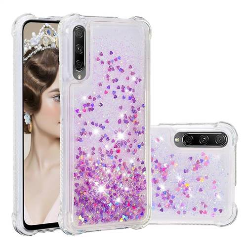Dynamic Liquid Glitter Sand Quicksand Star TPU Case for Huawei Honor 9X - Rose