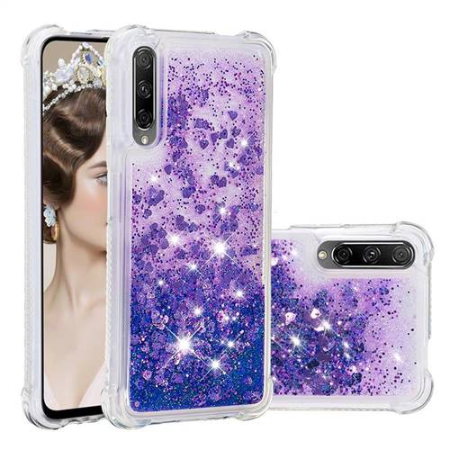 Dynamic Liquid Glitter Sand Quicksand Star TPU Case for Huawei Honor 9X - Purple
