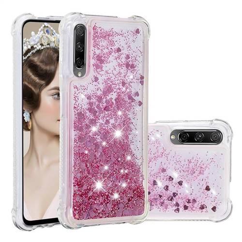 Dynamic Liquid Glitter Sand Quicksand Star TPU Case for Huawei Honor 9X - Diamond Rose