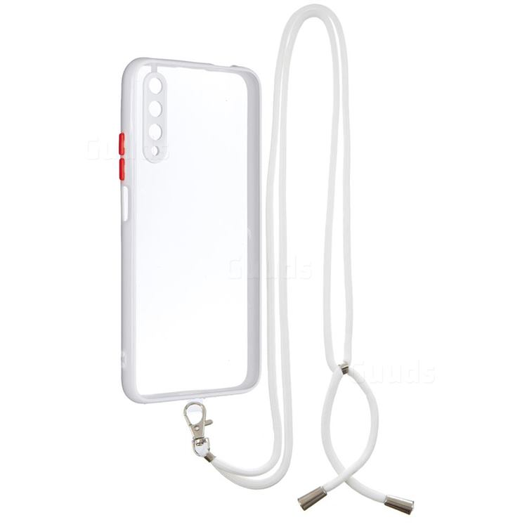 Necklace Cross-body Lanyard Strap Cord Phone Case Cover for Huawei Honor 9X - White