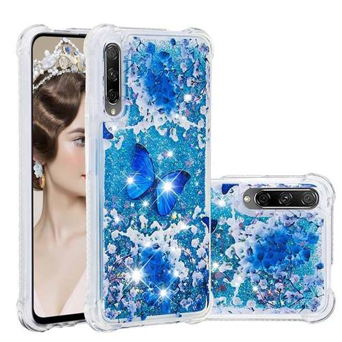 Flower Butterfly Dynamic Liquid Glitter Sand Quicksand Star TPU Case for Huawei Honor 9X Pro