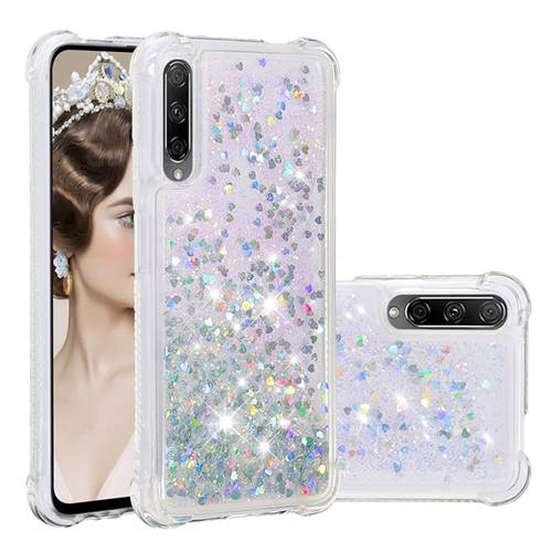 Dynamic Liquid Glitter Sand Quicksand Star TPU Case for Huawei Honor 9X Pro - Silver