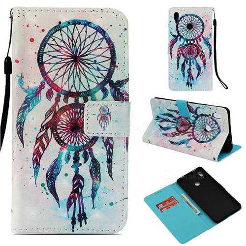 ColorDrops Wind Chimes 3D Painted Leather Wallet Case for Huawei Honor Note 10