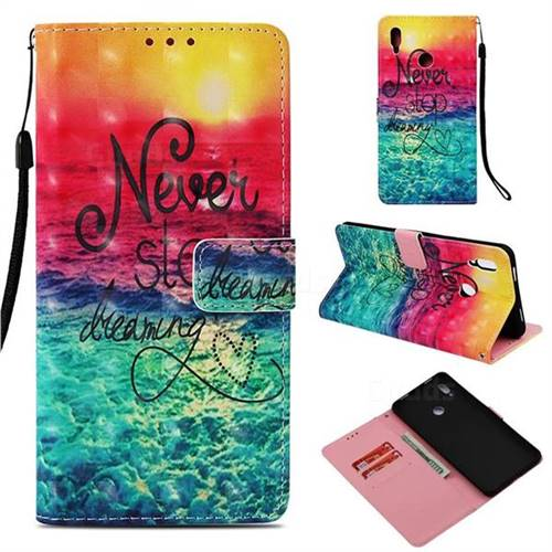Colorful Dream Catcher 3D Painted Leather Wallet Case for Huawei Honor Note 10