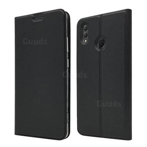Ultra Slim Card Magnetic Automatic Suction Leather Wallet Case for Huawei Honor Note 10 - Star Grey