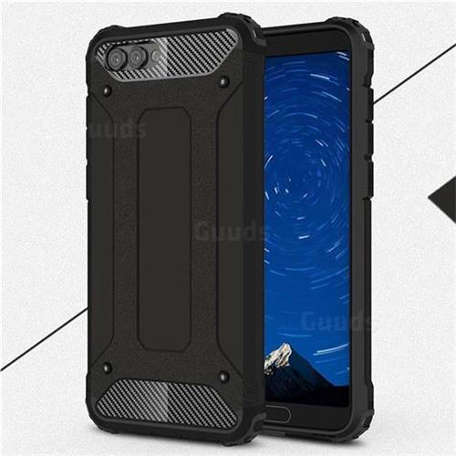 King Kong Armor Premium Shockproof Dual Layer Rugged Hard Cover for Huawei Honor View 10 (V10) - Black Gold