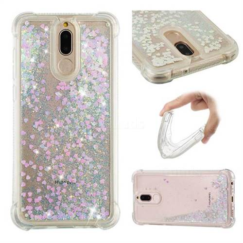 Dynamic Liquid Glitter Sand Quicksand Star TPU Case for Huawei Mate 10 Lite / Nova 2i / Horor 9i / G10 - Pink