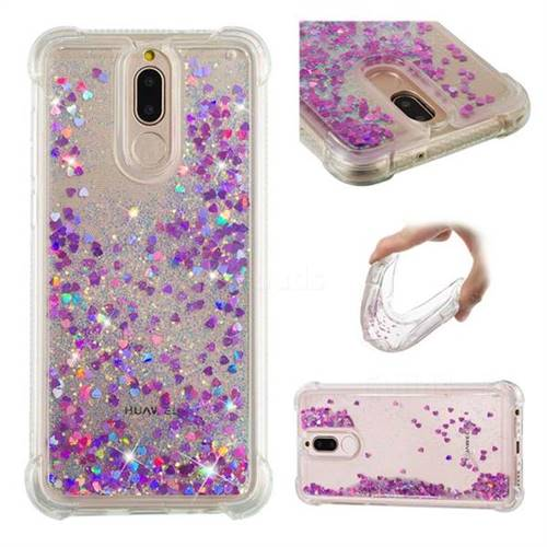 Dynamic Liquid Glitter Sand Quicksand Star TPU Case for Huawei Mate 10 Lite / Nova 2i / Horor 9i / G10 - Rose