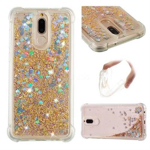 Dynamic Liquid Glitter Sand Quicksand Star TPU Case for Huawei Mate 10 Lite / Nova 2i / Horor 9i / G10 - Diamond Gold