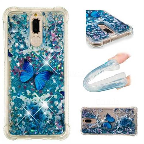 Flower Butterfly Dynamic Liquid Glitter Sand Quicksand Star TPU Case for Huawei Mate 10 Lite / Nova 2i / Horor 9i / G10
