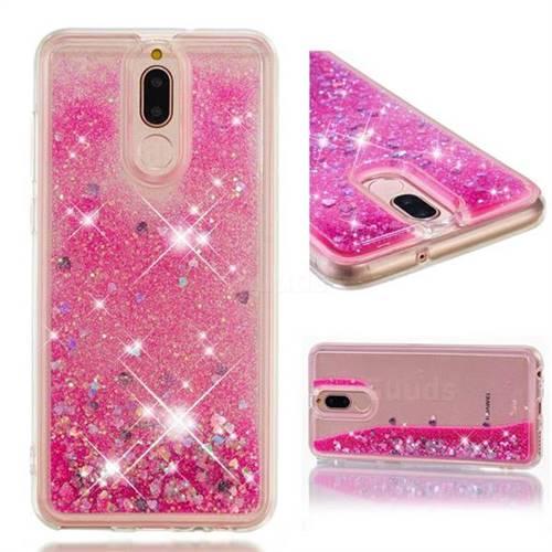 Dynamic Liquid Glitter Quicksand Sequins TPU Phone Case for Huawei Mate 10 Lite / Nova 2i / Horor 9i / G10 - Rose
