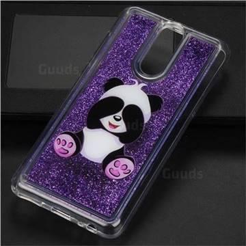 Naughty Panda Glassy Glitter Quicksand Dynamic Liquid Soft Phone Case for Huawei Mate 10 Lite / Nova 2i / Horor 9i / G10