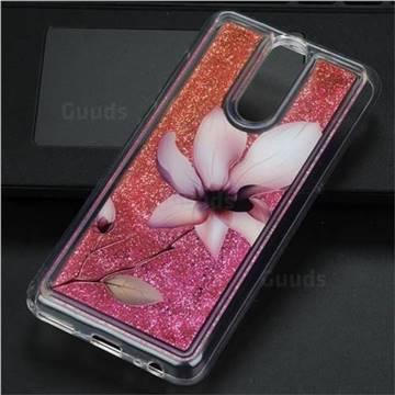 Lotus Glassy Glitter Quicksand Dynamic Liquid Soft Phone Case for Huawei Mate 10 Lite / Nova 2i / Horor 9i / G10