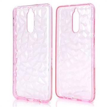 Diamond Pattern Shining Soft TPU Phone Back Cover for Huawei Mate 10 Lite / Nova 2i / Horor 9i / G10 - Pink