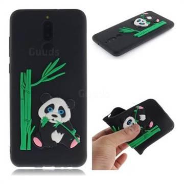 Panda Eating Bamboo Soft 3D Silicone Case for Huawei Mate 10 Lite / Nova 2i / Horor 9i / G10 - Black