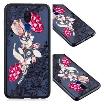 Tulip Lace Diamond Flower Soft TPU Back Cover for Huawei Mate 10 Lite / Nova 2i / Horor 9i / G10
