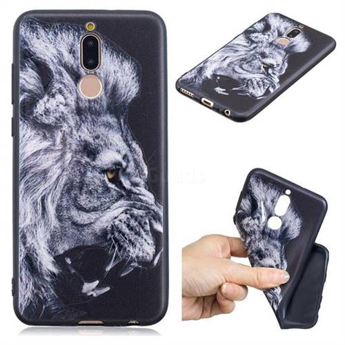 Lion 3D Embossed Relief Black TPU Cell Phone Back Cover for Huawei Mate 10 Lite / Nova 2i / Horor 9i / G10