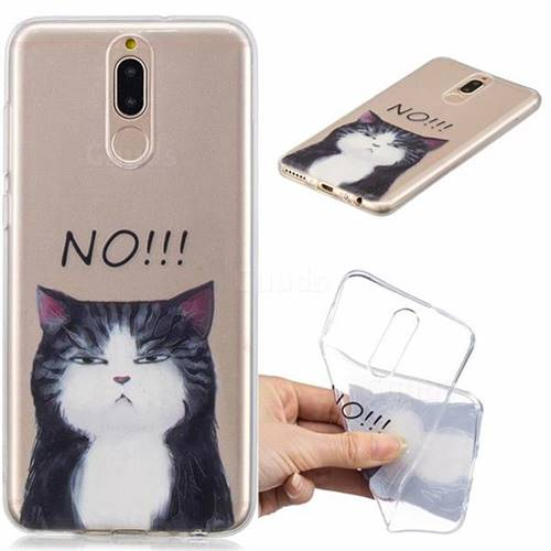 No Cat Clear Varnish Soft Phone Back Cover for Huawei Mate 10 Lite / Nova 2i / Horor 9i / G10