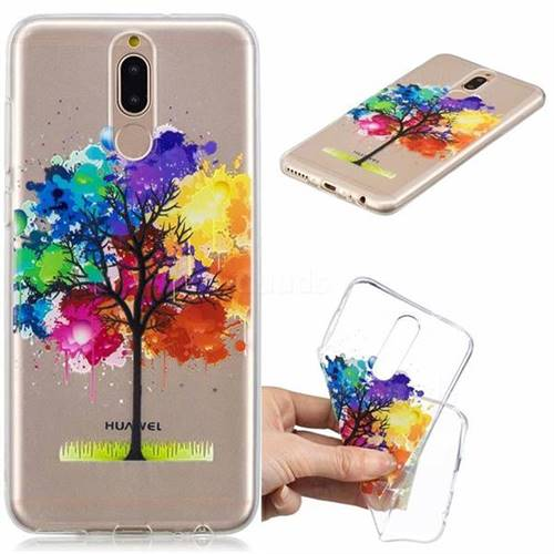 Oil Painting Tree Clear Varnish Soft Phone Back Cover for Huawei Mate 10 Lite / Nova 2i / Horor 9i / G10